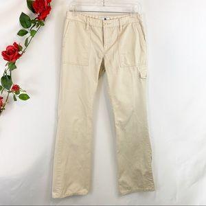 🌼Gap Cream Straight Leg Cargo Corduroys Pants